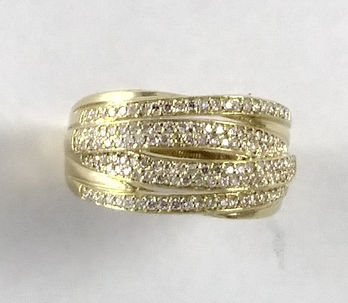 layered diamond ring