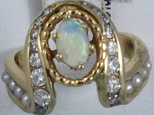OPAL,PEARL RING