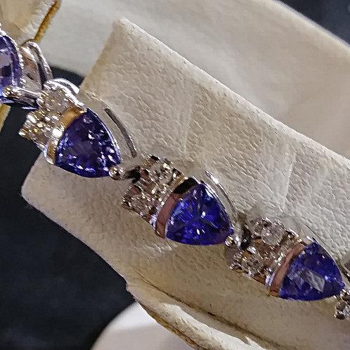 Tanzanite ,Diamond Bracelet