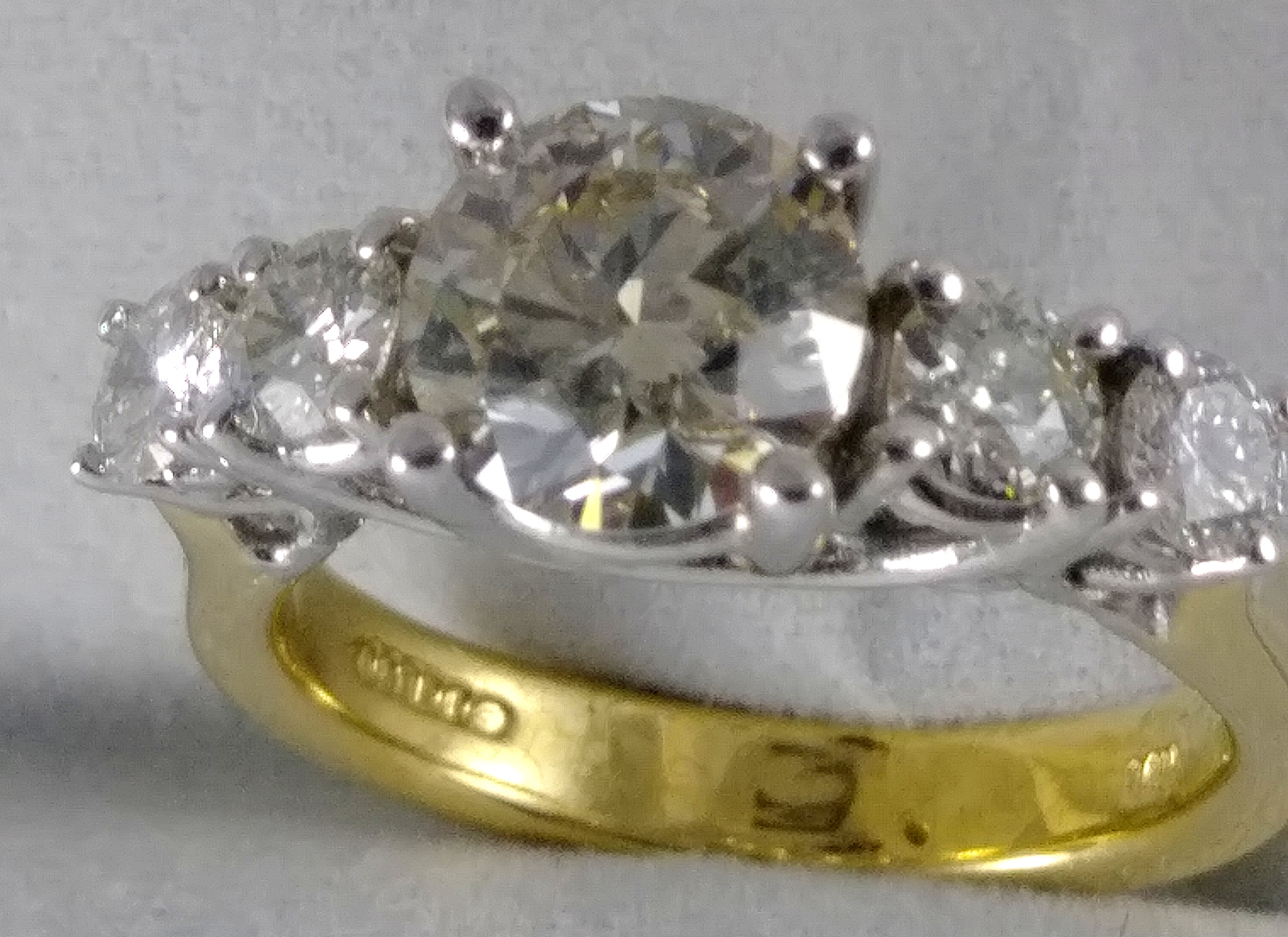5 Stone two tone Engagement Ring