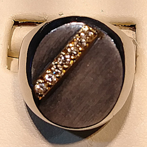 silver & gold man's ring