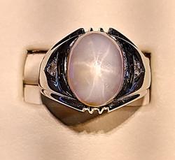 star sapphire ring mans