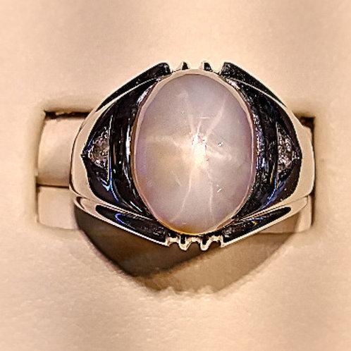 man's star sapphire ring