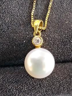 Pearl/Diamond pendant