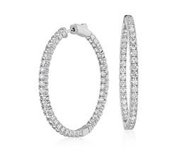 inside out diamond hoops