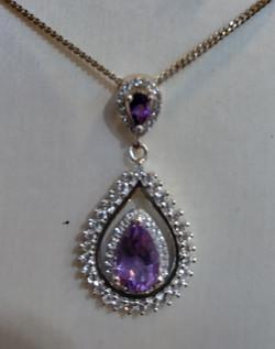 2silver amethyst necklace
