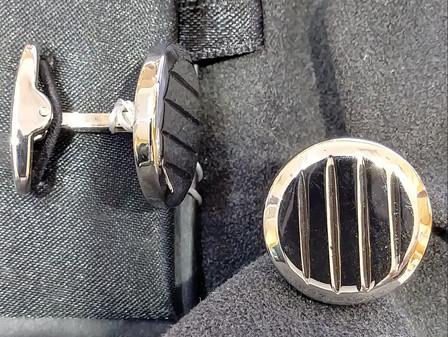 stainless hi polished cufflinks