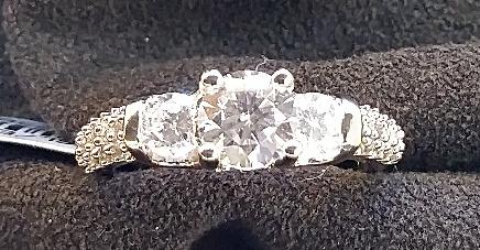 Tree stone Engagement Ring