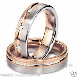 Rose & white Gold Bands