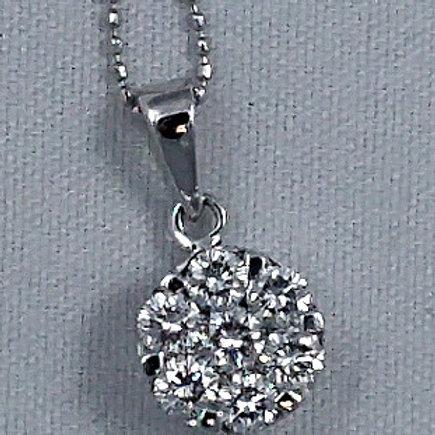 Diamond Cluster Necklace