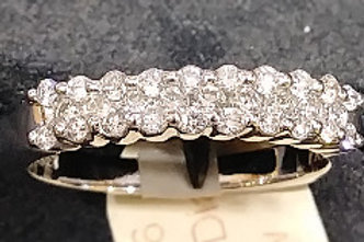 3 row diamond band