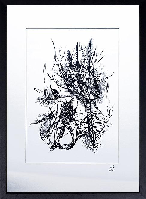 Hedgerow Drawing Series, 2021. Print.