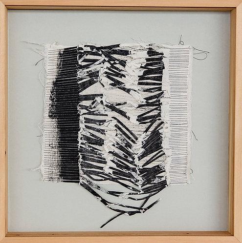 'Known Pleasures', Textile. 2018. 40 x 40 cm (framed).