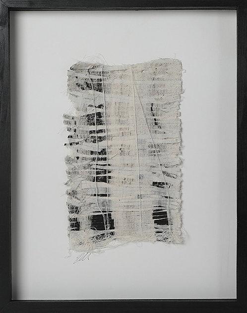 'Spirit of the Staircase' 2018. Textile. 30 x 40 cm (framed).