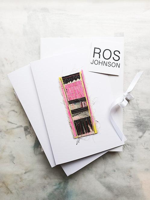 'Fireside I, II and III'. Cloth Collage Gift Box #2020minis