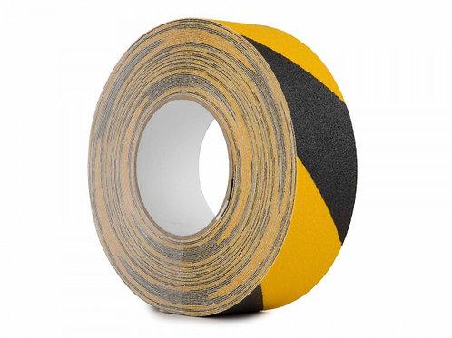 Anti Slip Tape Heavy Duty 50mm x 18.3m Roll BLACK/YELLOW