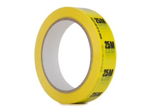 Identi-Tak Cable Length ID Tape 24mm x 33m 25M Yellow