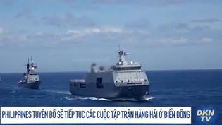 Philippines tuyên bố sẽ tiếp tục các cuộc tập trận hàng hải ở Biển Đông