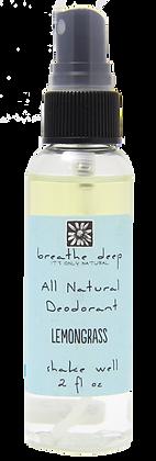 Natural Lemongrass Essential Oil Deodorant