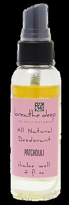 Natural Patchouli Essential Oil Deodorant