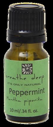 breathe deep peppermint essential oil dropper bottle