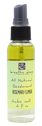 Natural Rosemary Lemon Essential Oil Deodorant