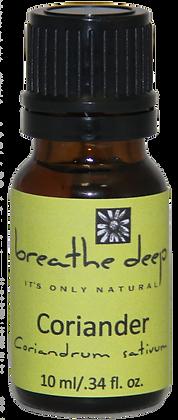 breathe deep coriander essential oil