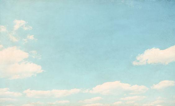 Le nuvole in cielo