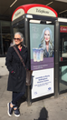 So excited to find myself on the side of a phone box in my home city of Nottingham. The White Hot Ha
