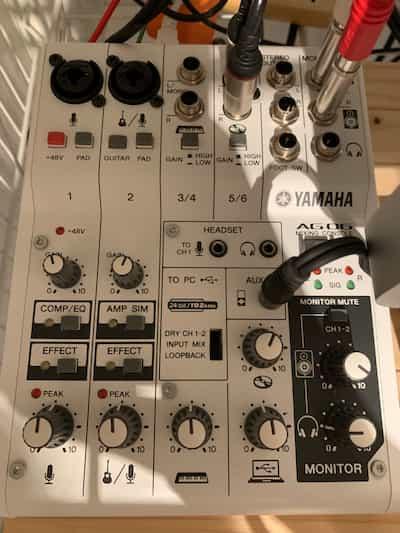 YAMAHA AG06 レビュー ドラム。ピアノ・ボーカル用セッティング
