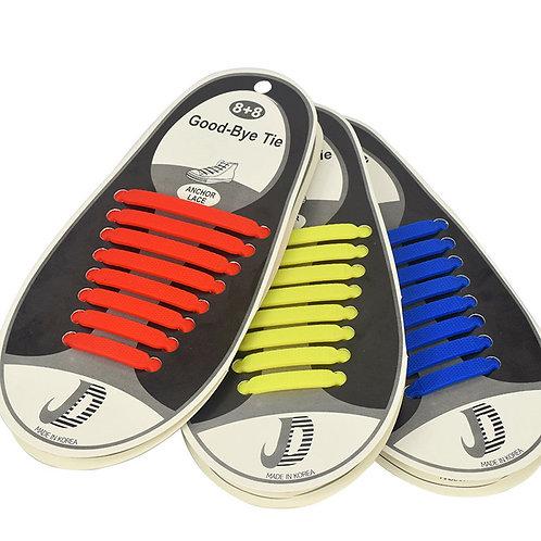 伸び〜る 結ばない靴紐 スニーカー シリコン シューレース ランニング スポーツ 結ばない 靴ひも 靴 シューズ 全8色