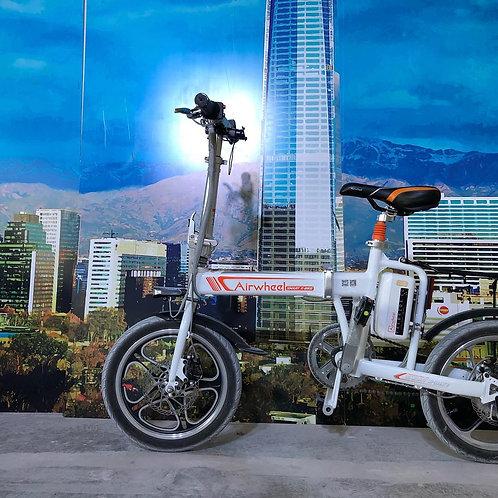 Airwheel R5 簡単 折りたたみ自転車 16インチ 電動ハイブリット フル電動自転車 パナソニック製30.5v 18Ah バッテリー smart E-b