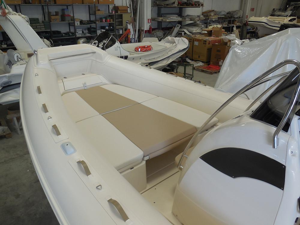 MAR.CO twentysix 8.43 meters rigid inflatable boat bow sundeck