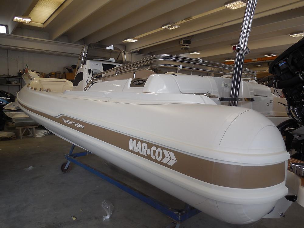 MAR.CO twentysix 8.43 meters rigid inflatable boat tube
