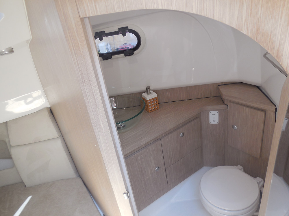 rigid inflatable boat cabin bathroom wc shower