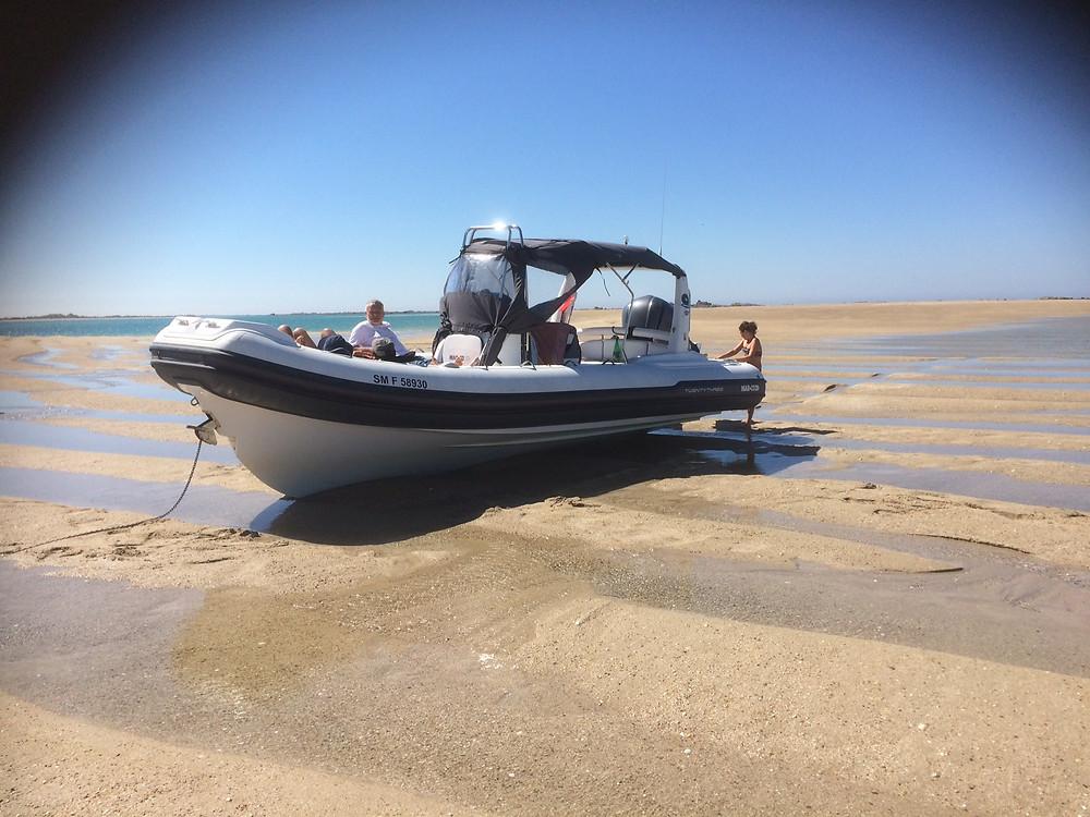 RIB low tide