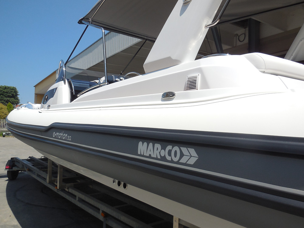 MAR.CO e-motion 32 cabin rib 9.98 meters tubes