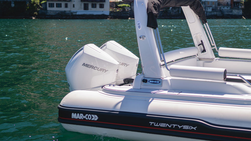 twin mercury verado 300 cold fusion white