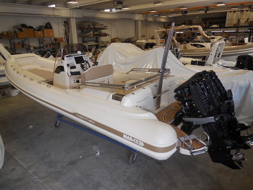MAR.CO twentysix 8.43 meters rigid inflatable boat