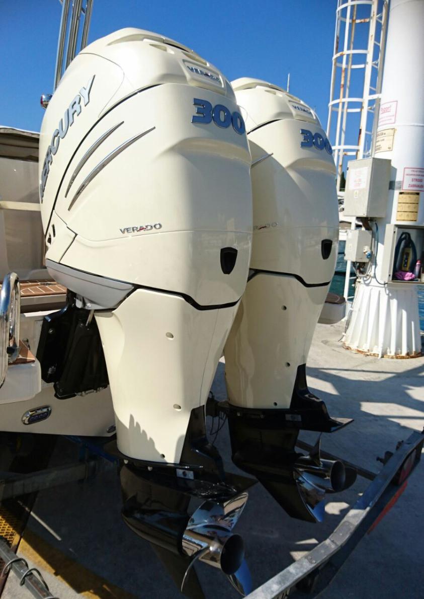 MAR.CO twentysix 8.43 meters rigid inflatable boat mercury verado 300hp cream