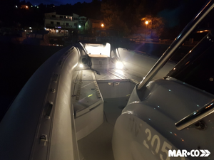 rigid hull inflatable boat  night lights