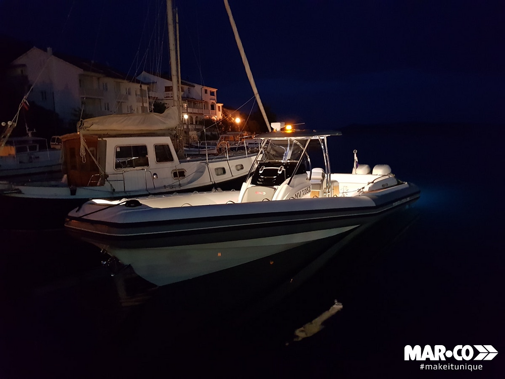 MAR.CO R-EVOLUTION 35 night croatia boat rib