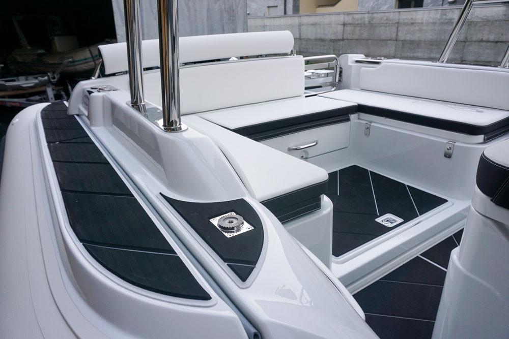 fishing rod holders on rigid inflatable boat