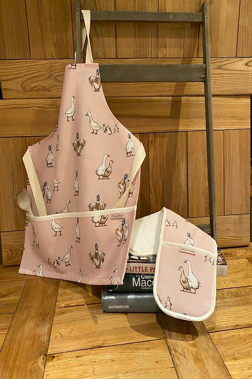 Pink Duck Childs Oven Gloves V001