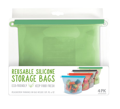 Reusable Silicone Storage Bags 4pk