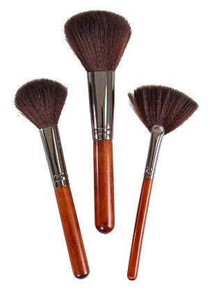 Bamboo Naturals Dark Makeup Brushes 3pc