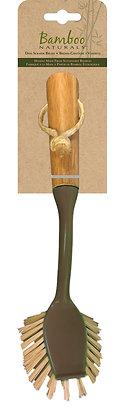 Bamboo Naturals Dish Brush with Scraper
