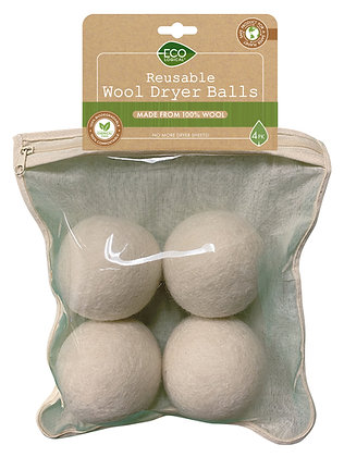 EcoLogical Reusable Wool Dryer Balls 4pk