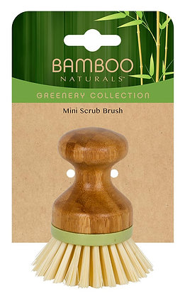 Bamboo Naturals Greenery Collection Mini Dish Brush
