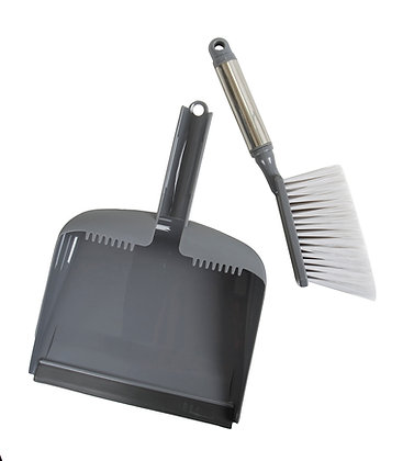 Sophisti-Clean Stainless Steel Dustpan and Brush